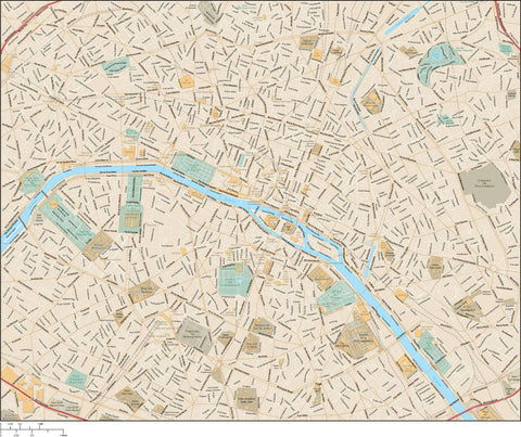 Paris Map - All Local Streets Adobe Illustrator Format PRS-XX-985347
