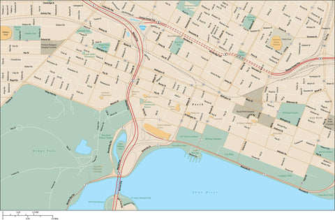 Perth Map Adobe Illustrator Vector Format PTH-XX-985438