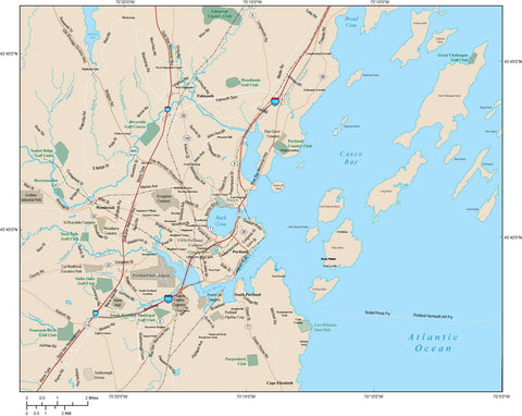 Portand Map Adobe Illustrator vector format PTM-XX-984811