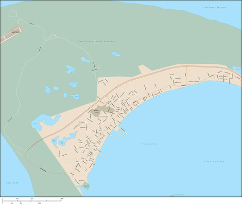 Provincetown Map Adobe Illustrator vector format PVC-XX-984910