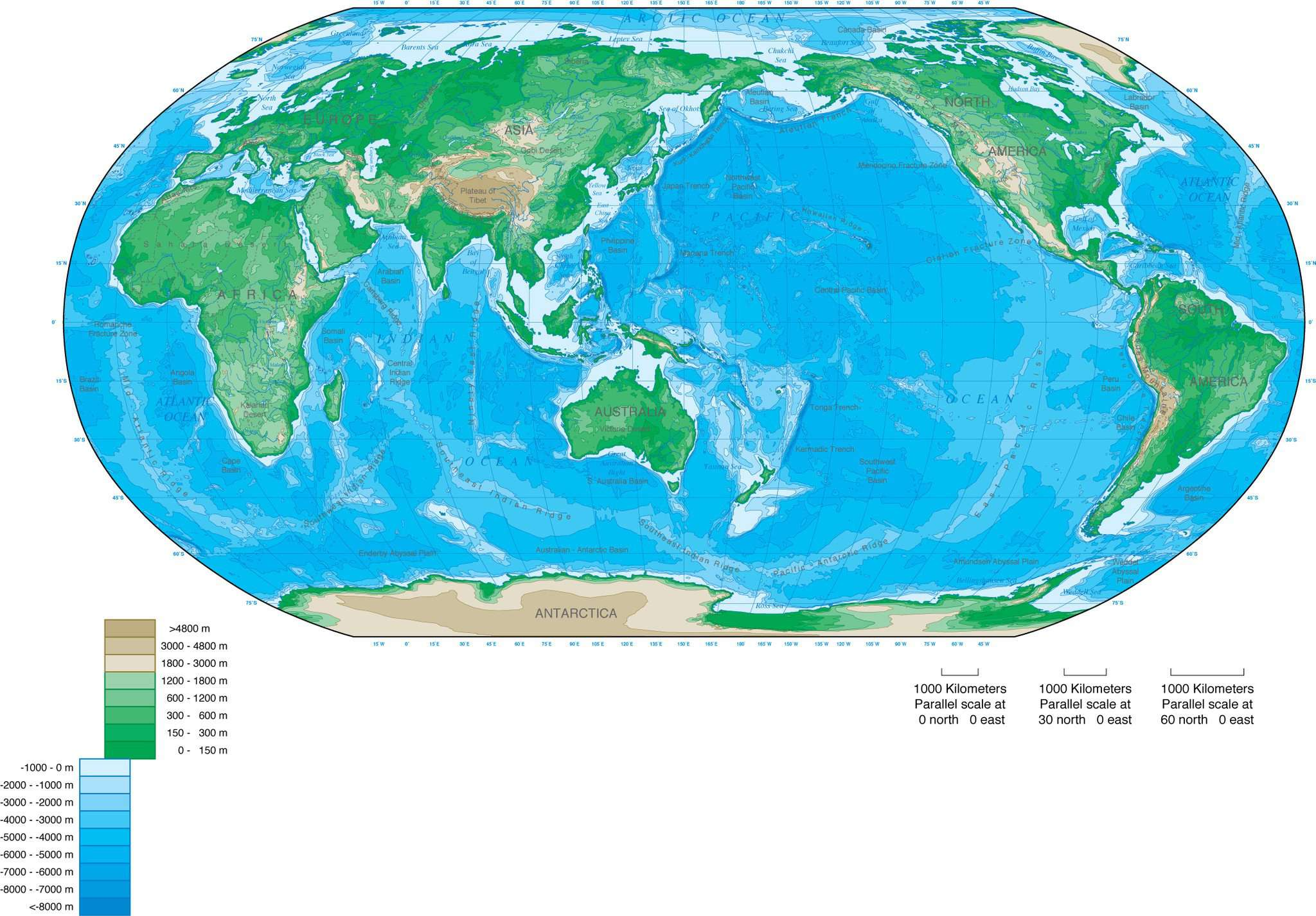 World Map Asia Centered.Adobe Illustrator Vector Format World Map With Contours Robinson
