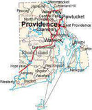 Rhode Island State Map - Cut Out Style - Fit Together Series