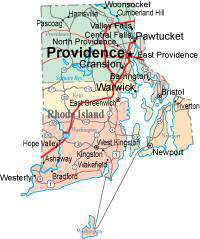 Rhode Island State Map - Multi-Color Style - Fit Together Series