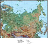 Russia Region Terrain map in Adobe Illustrator vector format with Photoshop terrain image RUS-XX-952938