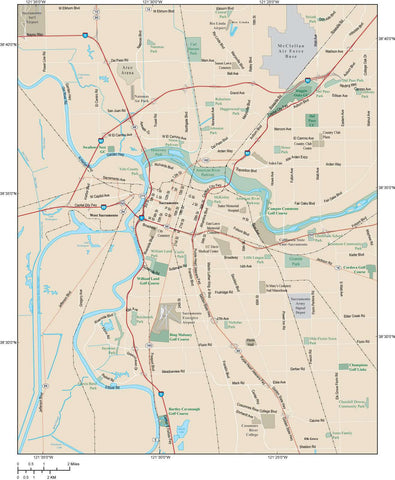 Sacramento Map Adobe Illustrator vector format SAC-XX-983723