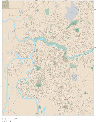 Sacramento Map Adobe Illustrator vector format SAC-XX-983724