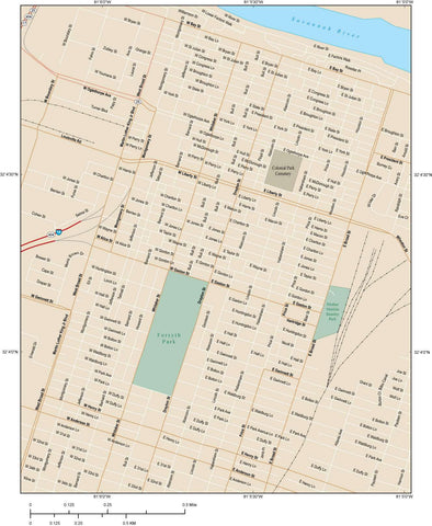Savannah Map Adobe Illustrator vector format SAV-XX-984879