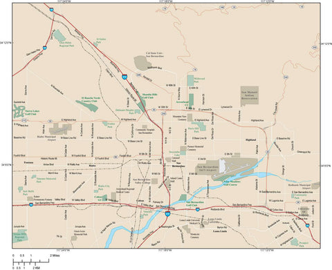 San Bernardino Map Adobe Illustrator vector format SBD-XX-985166