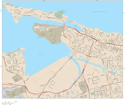 San Juan Map Adobe Illustrator vector format SJU-XX-985175