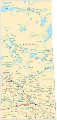 Saskatchewan Province Map - Fit-Together Style