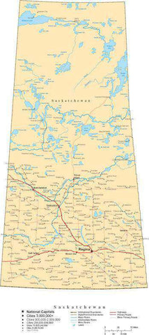 Saskatchewan Province Map - Cut-Out Style