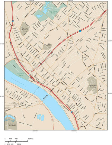 Springfield Map Adobe Illustrator vector format SPF-XX-985232