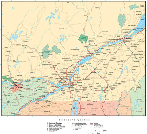Southern Quebec Map