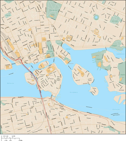 Stockholm Map Adobe Illustrator Vector Format STK-XX-985405