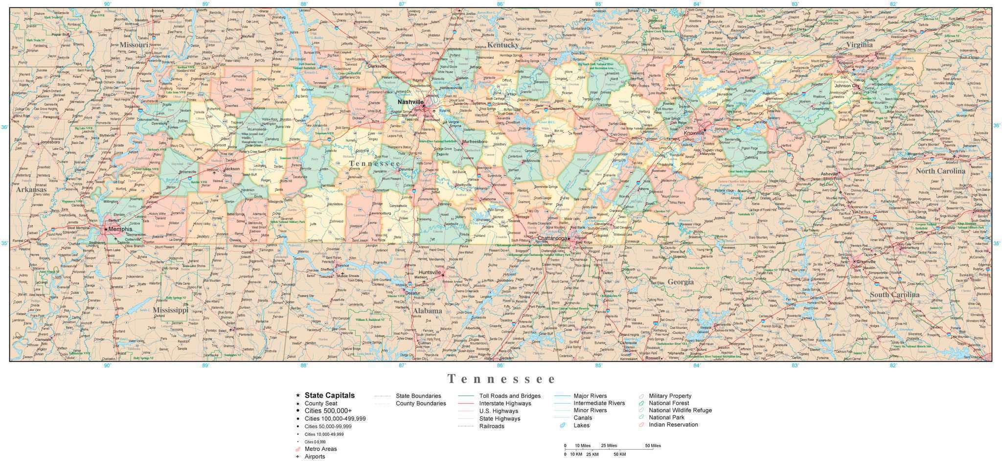 Tennessee County Map British Rail Map - Tn state map