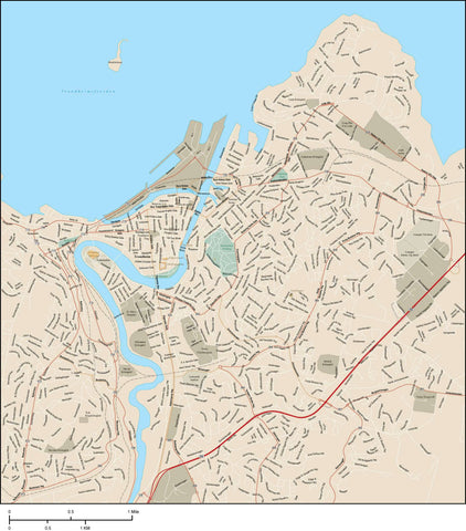 Trondheim Map Adobe Illustrator Vector Format TNH-XX-985521