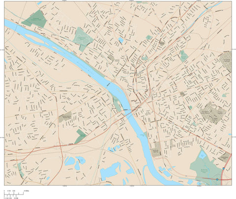 Trenton Map Adobe Illustrator vector format TRN-XX-984967