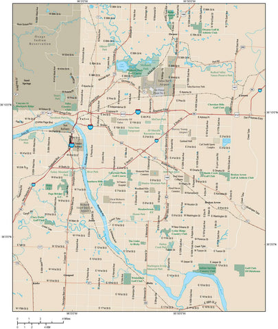 Tulsa Map Adobe Illustrator vector format TUL-XX-984907