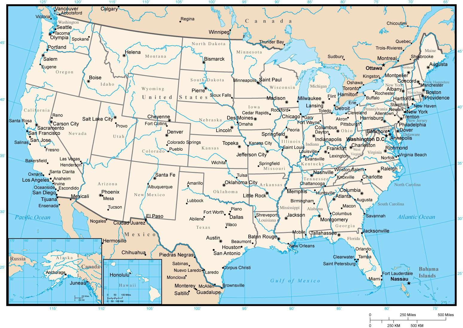 Picture of: United States Map With States And Capitals In Adobe Illustrator Format
