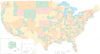 Poster Size USA Map with Congressional Districts - Adobe Illustrator Format