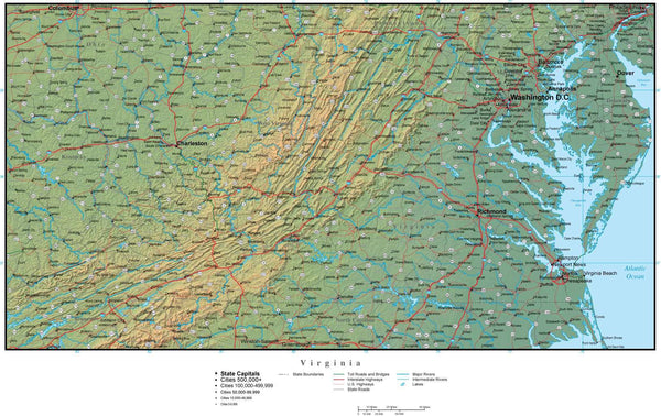Pics Photos  Texas Map Plus Terrain With Cities Roads And