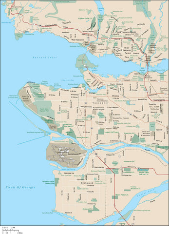 Vancouver Map Adobe Illustrator vector format VCV-XX-985413