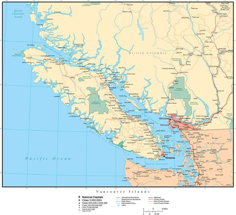 Vancouver Island Canada Map