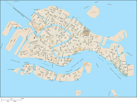 Venice Map Adobe Illustrator vector format VNC-XX-985402