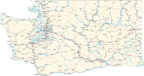 Washington State Map - Cut Out Style - Fit Together Series