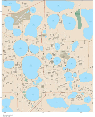 Winter Haven Map Adobe Illustrator vector format WHV-XX-985154