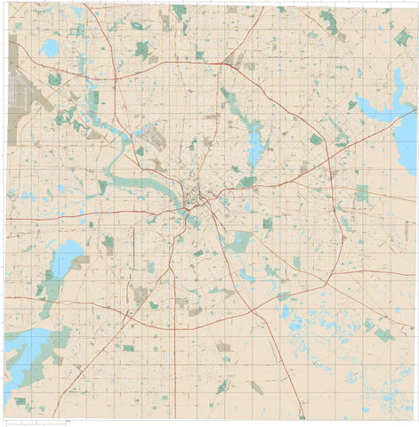 Dallas County Map with Major Features and Local Street Network