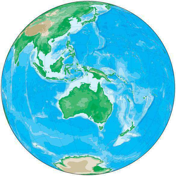 Australia Map Globe.Globe Map Over Australia With Contours