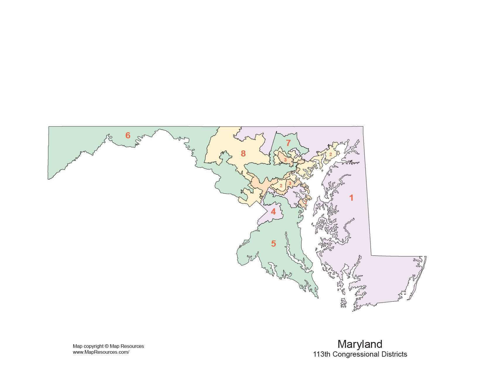 Maryland map congressional districts
