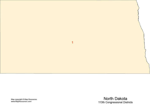 North Dakota Map with Congressional Districts
