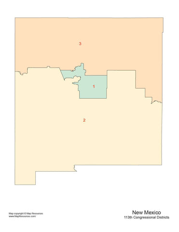 New Mexico Map with Congressional Districts