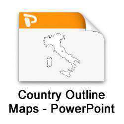 country outline maps powerpoint collection map resources
