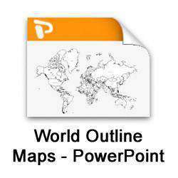 Digital World Outline Maps - PowerPoint Collection