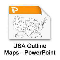 usa and state maps powerpoint collection map resources