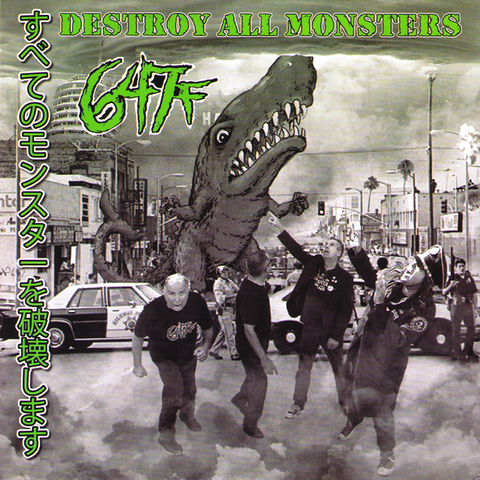 "647f - Destroy All Monsters 7"" ~RARE LA PUNK! - Richies Redneck - Dead Beat Records - 1"