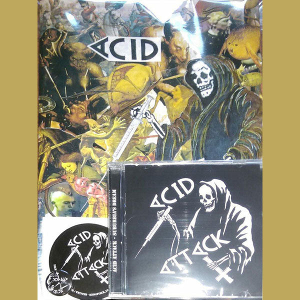 Acid Attack-  Suburbia's Dream CD ~REISSUE W/ BIG BOOKLET / STICKER / PIN!
