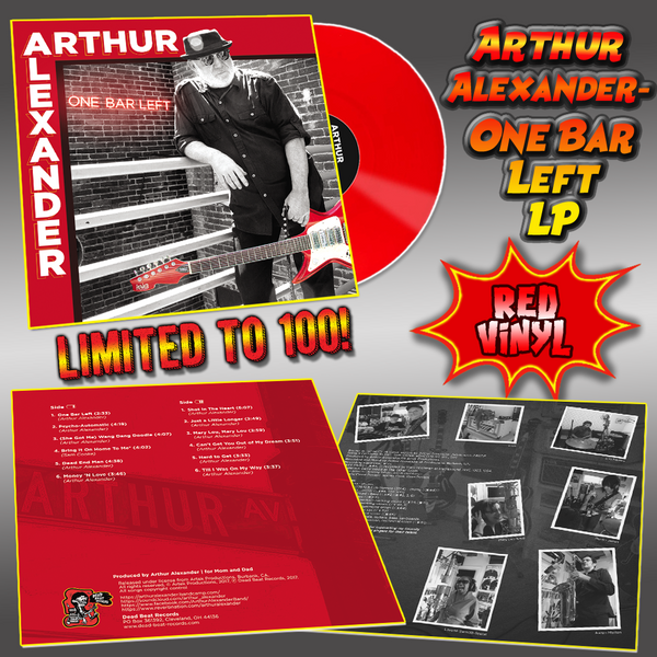 Arthur Alexander- One Bar Left LP ~RARE RED VINYL LTD TO 100!