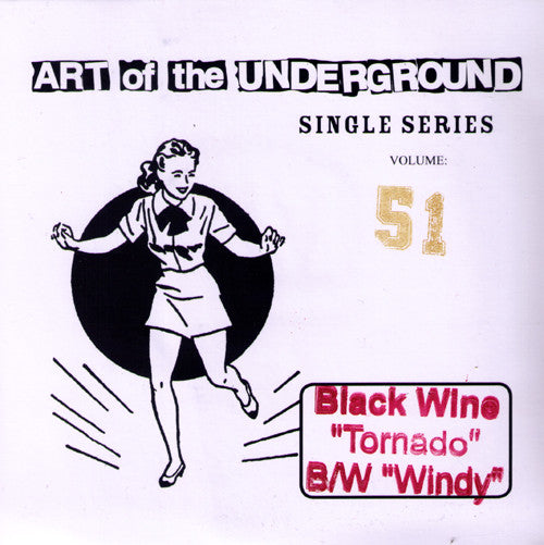 "Black Wine- Tornado 7"" ~ERGS! 200 PRESSED! - Art Of The Underground - Dead Beat Records"