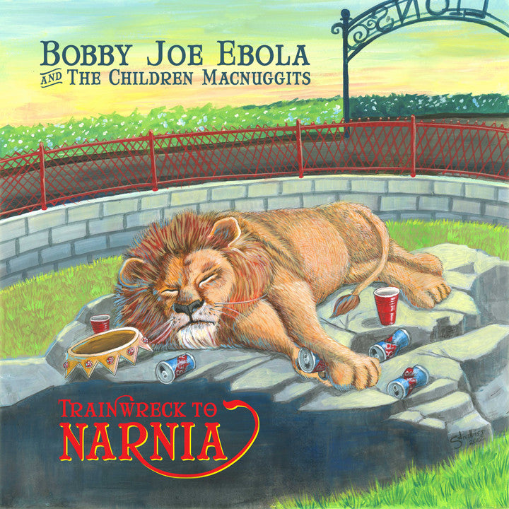 Bobby Joe Ebola +the Children McNuggits- Trainwreck to Narnia LP - Dirt Cult - Dead Beat Records