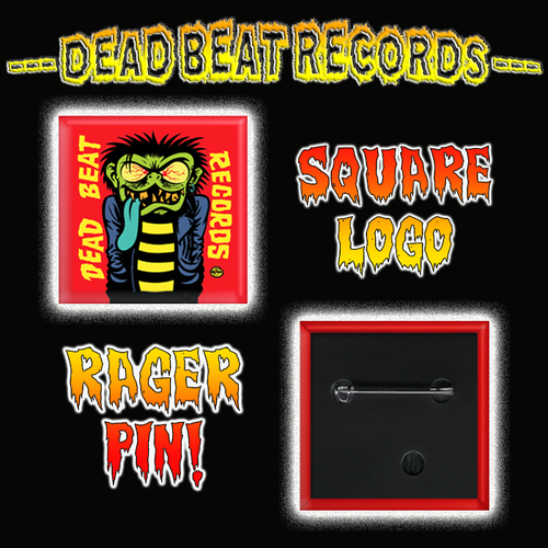 Dead Beat Records Square Rager Pin