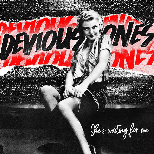 "Devious Ones- She's Waiting For Me 7"" ~RARE BLUE WAX LTD TO 100!"