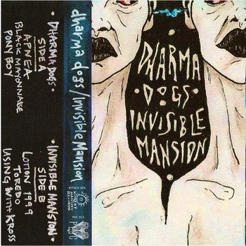 Dharma Dogs/Invisible Mansion- Split CS ~200 COPIES MADE! - KITCHY MANITOU RECORDS - Dead Beat Records