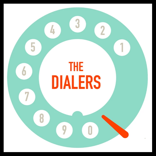 The Dialers- S/T LP ~VERY RARE TEAL DIALER ALTERNATE COVER LTD TO 30!