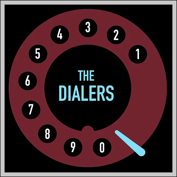 The Dialers- S/T LP ~VERY RARE RED DIALER ALTERNATE COVER LTD TO 30!