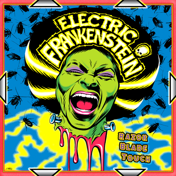 Electric Frankenstein- Razor Blade Touch LP ~CLASSIC BLACK WAX W/ RARE UNRELEASED TRACK RECORDED IN 1995!