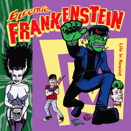 "Electric Frankenstein / Maximum RnR- Split 7"" ~RARE SWAMP GREEN WAX!"